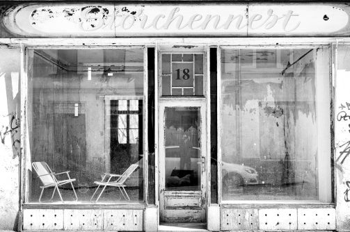 "Closed shop ""Storchennest"" in Leipzig-Leutzsch"