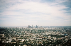 Griffith Observatory, View over LA | Leica MP | Kodak Portra 160